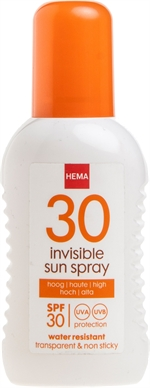 HEMA Sunspray invisible | Zonnecrème, zonnelotion of zonnespray?
