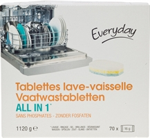 EVERYDAY VAATWASTABLETTEN ALL IN 1 | De beste wasmiddelen 2020 - Test Aankoop