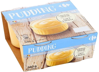 CARREFOUR Pudding vanille smaak